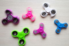 Fidget Spinner. Antistress, therapy. autism therapy. Fidget Spinner. antistress toys for autism people. new sales hit Royalty Free Stock Photography