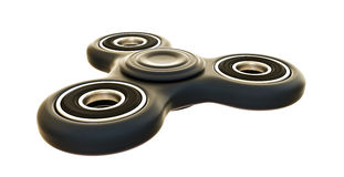 Fidget spinner. 3d illustration of a fidget spinner isolated on white background Royalty Free Stock Image