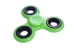 Fidget spinner green isolated Stock Images