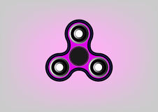 Fidget spinner icon - toy for stress relief and improvement of attention span Royalty Free Stock Image
