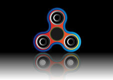 Fidget spinner icon - toy for stress relief and improvement of attention span. Filled multicolor and black color. Royalty Free Stock Photography