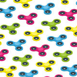 Fidget spinner isometric colorful background, kid toy concept vector Royalty Free Stock Image