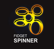 Fidget spinner logo illustration hand drawn. Graphic Stock Illustration