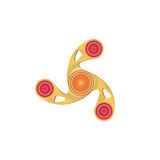 Fidget Spinner. Morden stress relieving toy icon. Fidget Spinner. Morden stress relieving toy illustration Stock Photos