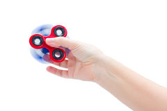 Fidget spinner, popular relaxing toy, generic design Stock Images