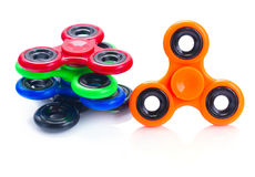 Fidget spinner, popular relaxing toy, generic design stock photo