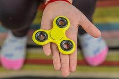 Finger spinner royalty free stock images