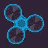 Fidget spinner spin roller vector illustration blue Stock Image