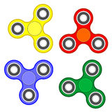 Fidget spinner stress relieving toy Royalty Free Stock Photos