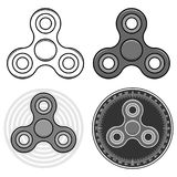 Fidget spinner toys set. Isolated vector icons Royalty Free Stock Images