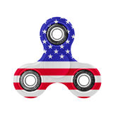 Fidget spinner with USA flag theme Royalty Free Stock Photo