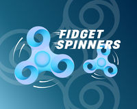Fidget Spinners Abstract Vector Card, Banner or Background. Dynamic Typography and Vibrant Colors Stock Photography