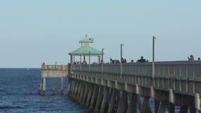Fidhing pier stock footage