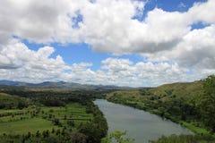 Fidschi-Fluss-Landschaft Stockfotografie