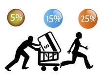 Fiebre de las compras ilustración del vector