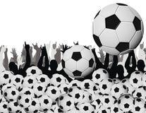 Fiebre del fútbol Foto de archivo libre de regalías