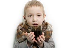 Fiebre del niño fotografía de archivo libre de regalías