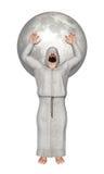Fiel ciega que ruega con Hood Covering Eyes Illustration Imagen de archivo