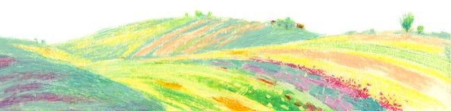 Fieldâ de los âFarmerâs de las ilustraciones Fotografía de archivo libre de regalías