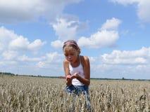field девушка Стоковая Фотография RF