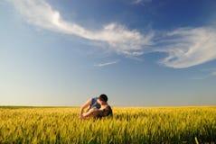 field поцелуй Стоковая Фотография