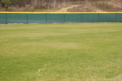 The Field. This is a photo of the outfield of a ballpark Royalty Free Stock Photo