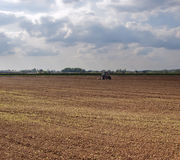 Field. Soil in a newly ploughed field Stock Photography