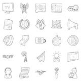 Field of activity icons set, outline style Stock Image