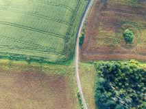 Field aerial background stock photos
