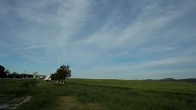 Field Against The Sky stock footage