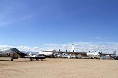 Field of Air Force Planes Royalty Free Stock Photos