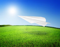 Field and airplane Stock Photography