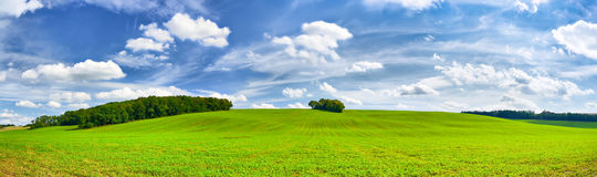 Field and an amazing sky Royalty Free Stock Photos