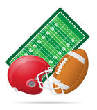 Field for american football vector illustration Stock Image