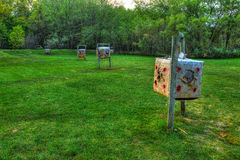 Field archery range in a park Stock Photos