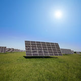 Field area for solar installations Royalty Free Stock Photos