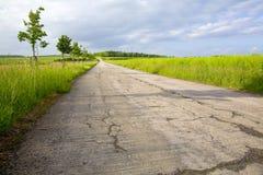 Field asphalt way Royalty Free Stock Photography