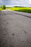 Field asphalt way Royalty Free Stock Photography