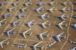 Field of B-52 Aircraft Stock Image