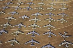 Field of B-52 Aircraft Stock Photos