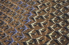 A Field of B-52 Aircraft, Davis Montham Air Force Base, Tucson, Arizona Royalty Free Stock Photos