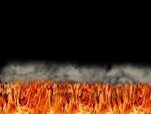 Field or bed of fire Royalty Free Stock Photo