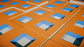 Field of bright orange cubes Royalty Free Stock Image