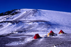 Field Camp on Gaussberg Antarctica Stock Images