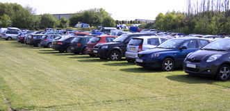 Field car park Stock Photo