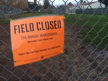 Field Closed Royalty Free Stock Photo