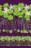 Field of clovers. Seamless. Vector Royalty Free Stock Image