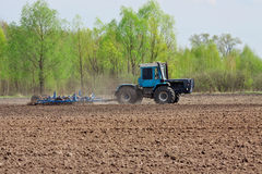 Field cultivation Stock Image