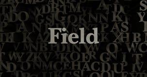 Field - 3D rendered metallic typeset headline illustration Stock Photos