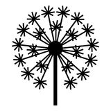 Field dandelion icon, simple style. Field dandelion icon. Simple illustration of field dandelion vector icon for web design isolated on white background Stock Photo